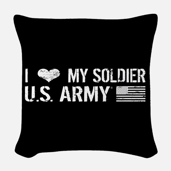 U.S. Army: I Love My Soldier (Black) Woven Throw P