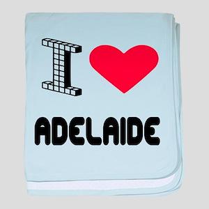 I Love Adelaide City baby blanket