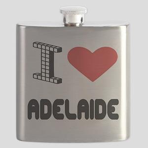 I Love Adelaide City Flask