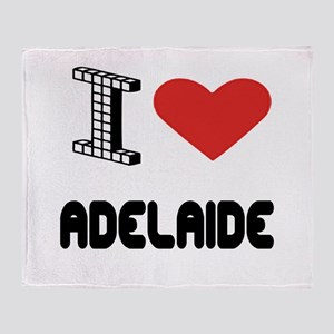 I Love Adelaide City Throw Blanket