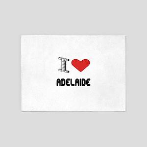 I Love Adelaide City 5'x7'Area Rug