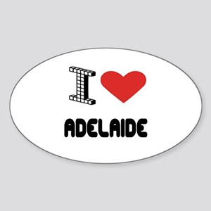 I Love Adelaide City Sticker (Oval)