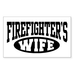 Firefighter's Wife Rectangle Decal