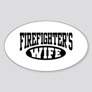 Firefighter's Wife Oval Sticker