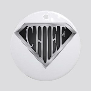 SuperChief(metal) Ornament (Round)