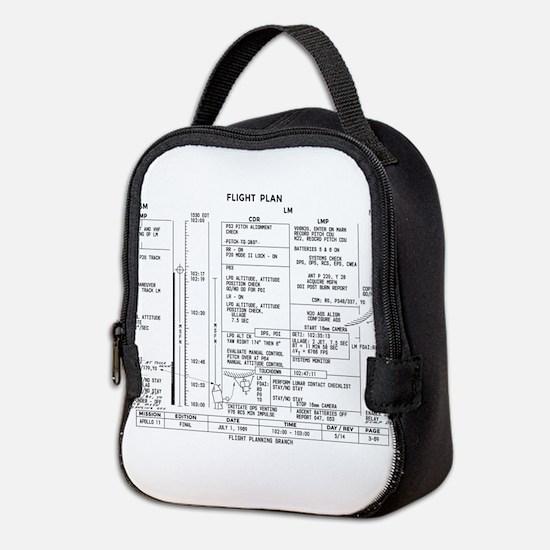 Apollo 11 Flight Plan Neoprene Lunch Bag