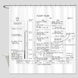 Apollo 11 Flight Plan Shower Curtain