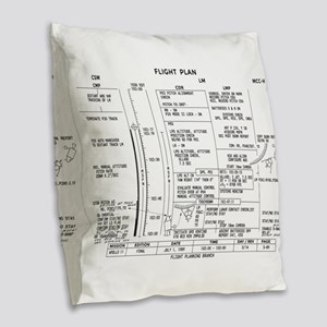 Apollo 11 Flight Plan Burlap Throw Pillow
