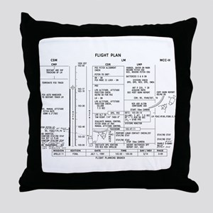 Apollo 11 Flight Plan Throw Pillow