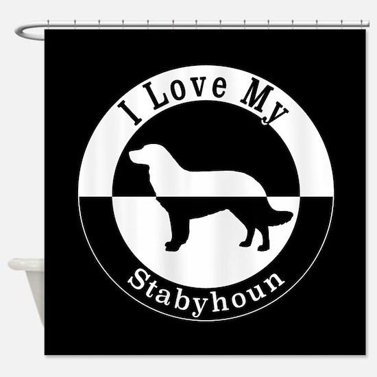 Cute Stabyhoun Shower Curtain