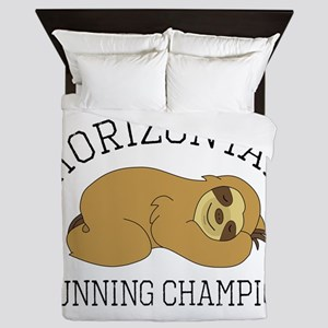 Horizontal Running Champion - Sloth Queen Duvet