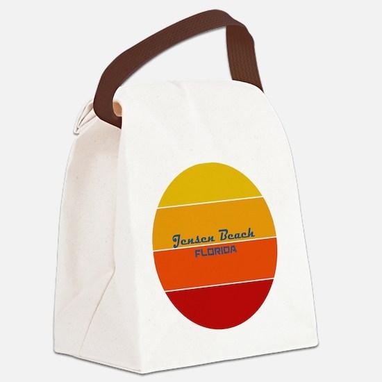 Florida - Jensen Beach Canvas Lunch Bag