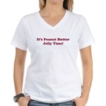 Peanut Butter Jelly Time Women's V-Neck T-Shirt