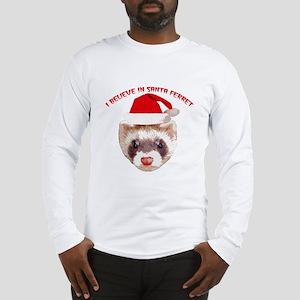 Santa Ferret Long Sleeve T-Shirt