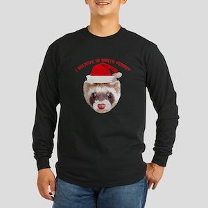 Santa Ferret Long Sleeve Dark T-Shirt