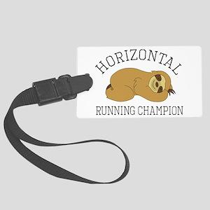 Horizontal Running Champion - Sl Large Luggage Tag