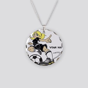 PERSONALIZED SOCCER MOM Necklace Circle Charm