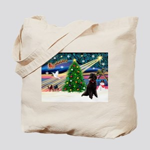 XmasStar/Poodle (ST-B) Tote Bag