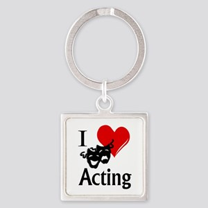 I Heart Acting Keychains