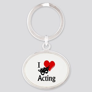 I Heart Acting Keychains