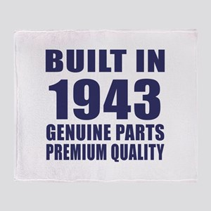 Built In 1943 Throw Blanket