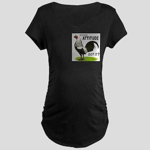 It's About Attitude Maternity Dark T-Shirt