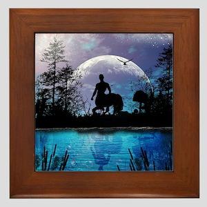 Wonderful centaur silhouette Framed Tile