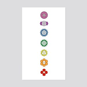 Chakra Strip Rectangle Sticker