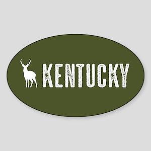 Deer: Kentucky Sticker (Oval)