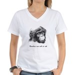 Friends of Bonobos Women's V-Neck T-Shirt