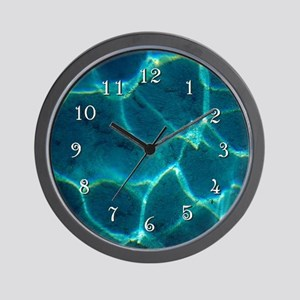Cool Blue Water * Wall Clock