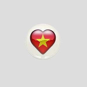 Vietnam Heart Mini Button