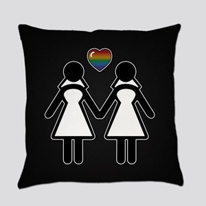 Mrs. & Mrs. Lesbian Pride Brides Everyday Pillow