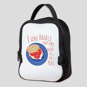 Love Bagels Neoprene Lunch Bag