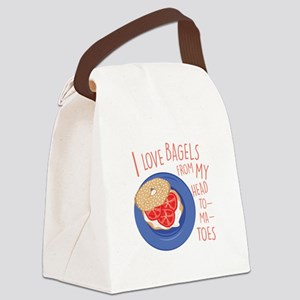 Love Bagels Canvas Lunch Bag