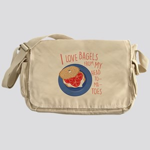 Love Bagels Messenger Bag