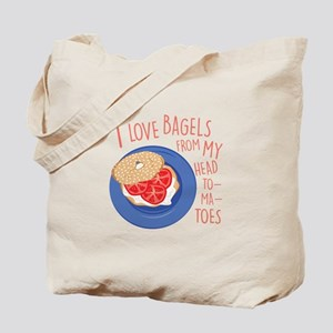 Love Bagels Tote Bag