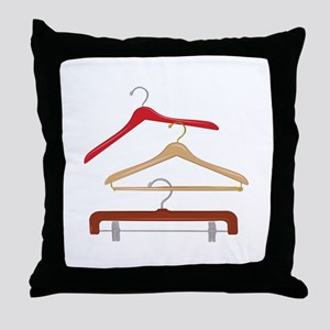 Clothes Hangers Throw Pillow