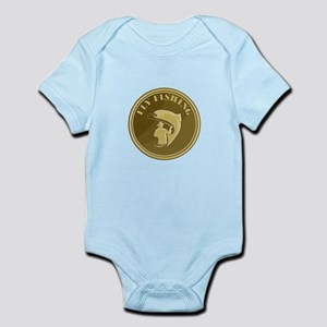 Fly Fishing Gold Coin Retro Body Suit