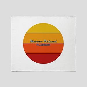 Florida - Marco Island Throw Blanket