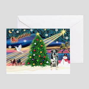 XmasMagic/Catahoula Greeting Card