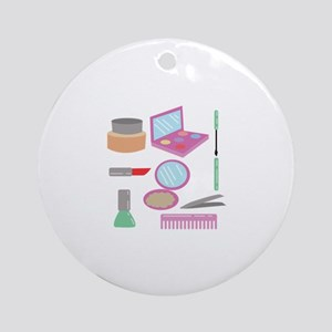Beauty Products Round Ornament