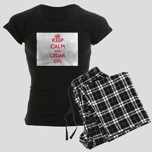 Keep Calm and Cedar ON Pajamas