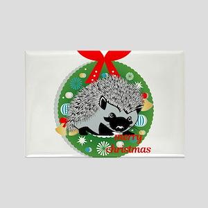 merry christmas hedgehog Magnets