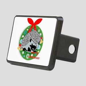 merry christmas hedgehog Rectangular Hitch Cover