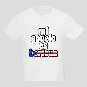 Mi Abuelo Es Boricua Kids Light T-Shirt