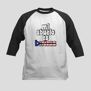 Mi Abuelo Es Boricua Kids Baseball Jersey