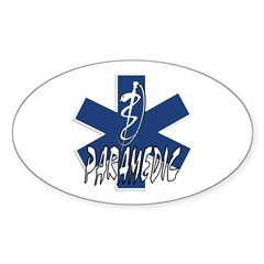 Paramedic Action Sticker (Oval)