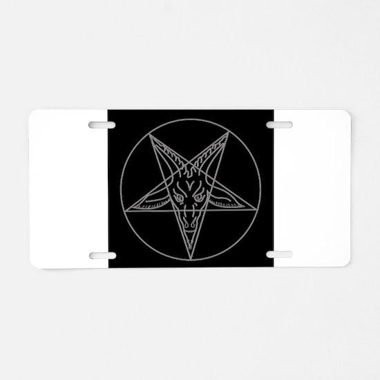 Cute Satanic pentagram Aluminum License Plate