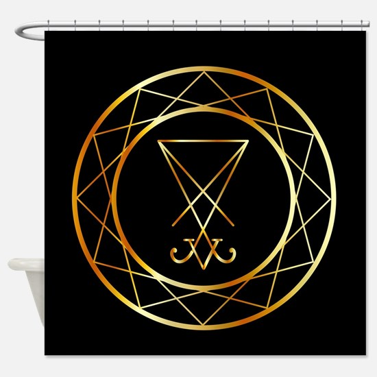 Funny Baphomet Shower Curtain